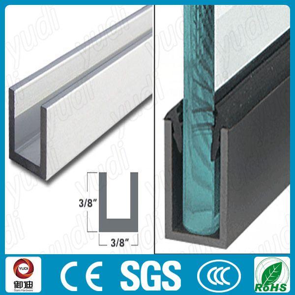 Perfil de aluminio para baranda de vidrio buscar con for Colores de perfiles de aluminio