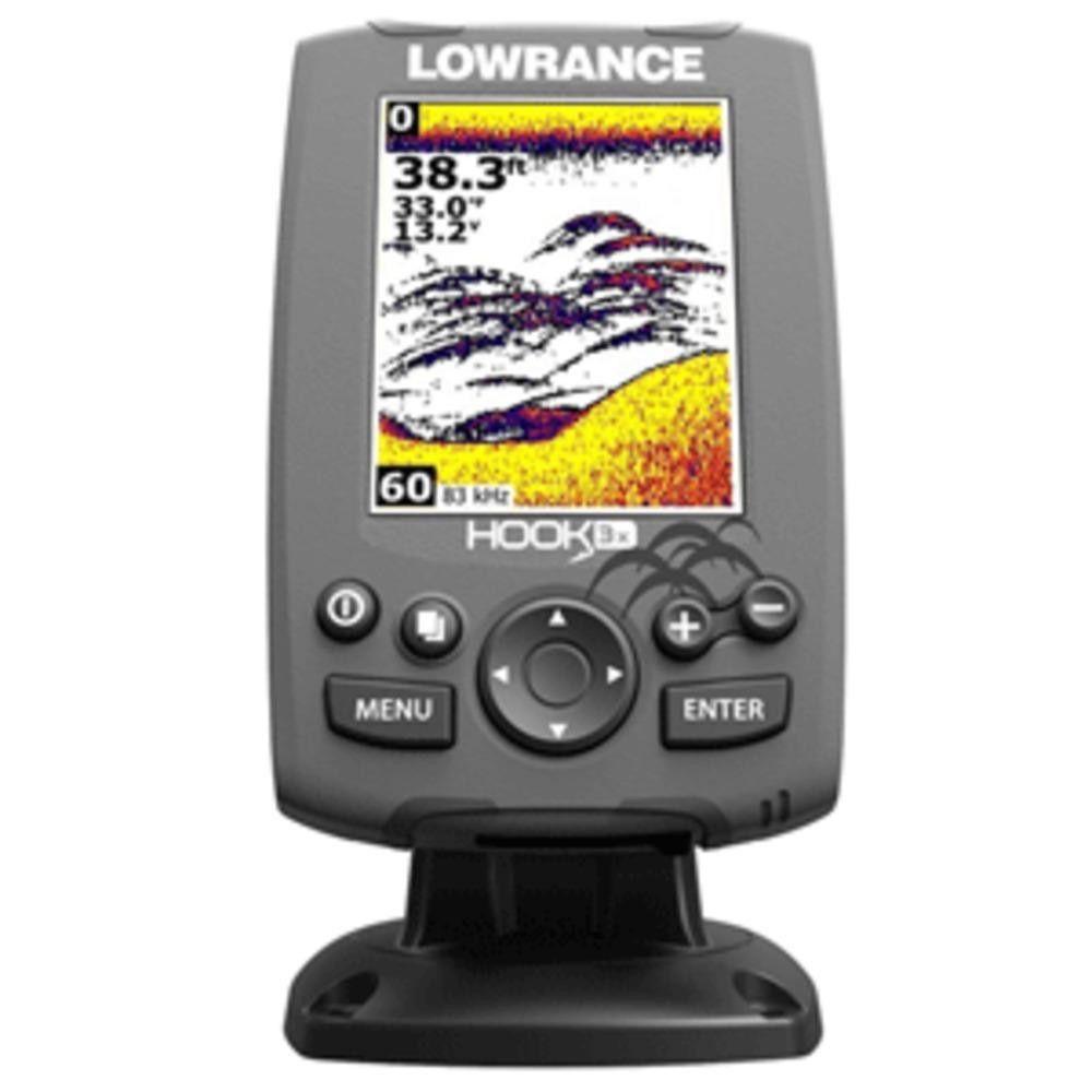 Lowrance HOOK3x Fishfinder w83200 Transom Mount