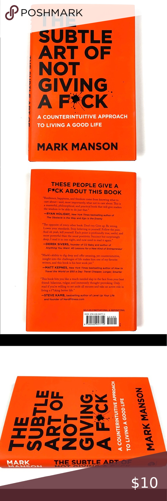 The Subtle Art Of Not Giving A F Ck Hard Cover A Counterintuitive Approach To Living A Good Life Hard Cover By Mark Manson Mark Manson Othe Subtle Cover Hard