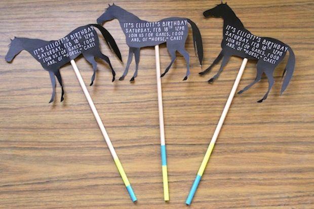 horse birthday party invites 01 - Horse Party Invitations