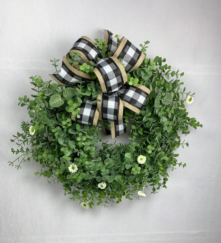 Photo of Eucalyptus Wreath, Everyday Wreath for Front Door, Farmhouse Wreath