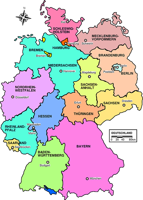 Map Of Germany Regions.Free Image On Pixabay Germany Map Political Regions Maps