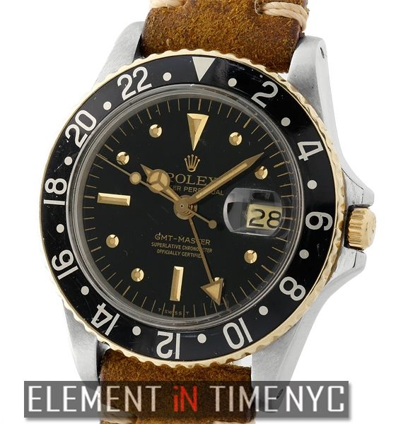Element In Time   #Rolex GMT-Master Vintage GMT-Master Steel & Gold Nipple Rail Dial Circa 1966 1675 ($5,475.00)