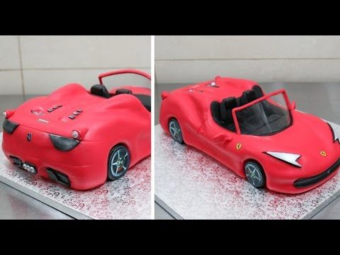 How To Make A Ferrari Car Cake Cakesstepbystep Youtube With