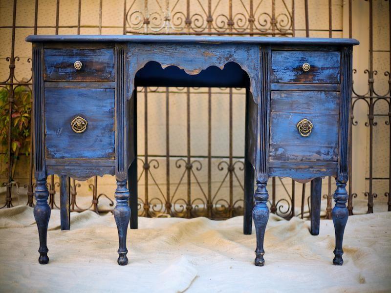 http://vintageambiance.com/wp-content/gallery/furniture/blue-desk.jpg |  Home decor ideas | Pinterest | Desks, Refurbished furniture and Vintage - Http://vintageambiance.com/wp-content/gallery/furniture/blue-desk