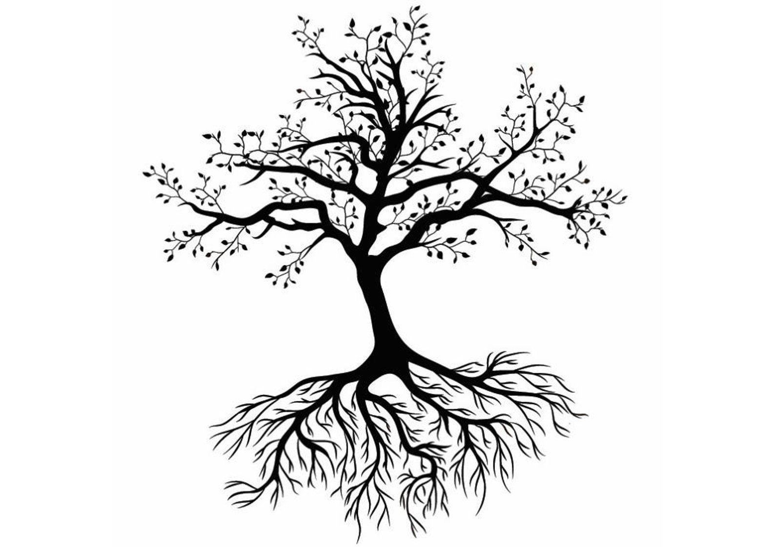 Tree 1 Life Roots Exposed Family Grow Growth Growing Flower Etsy Tree Tattoo Vector Free Tree Tattoo Designs