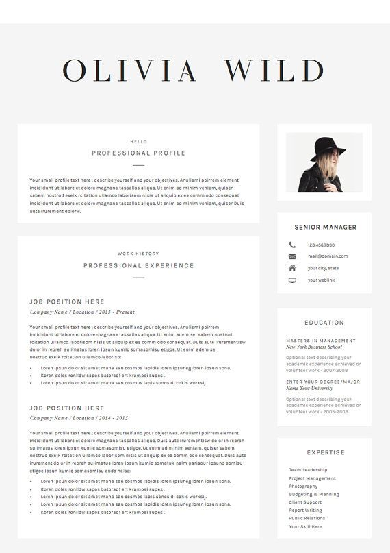 resume template 5 pages cv template cover by theresumeboutique