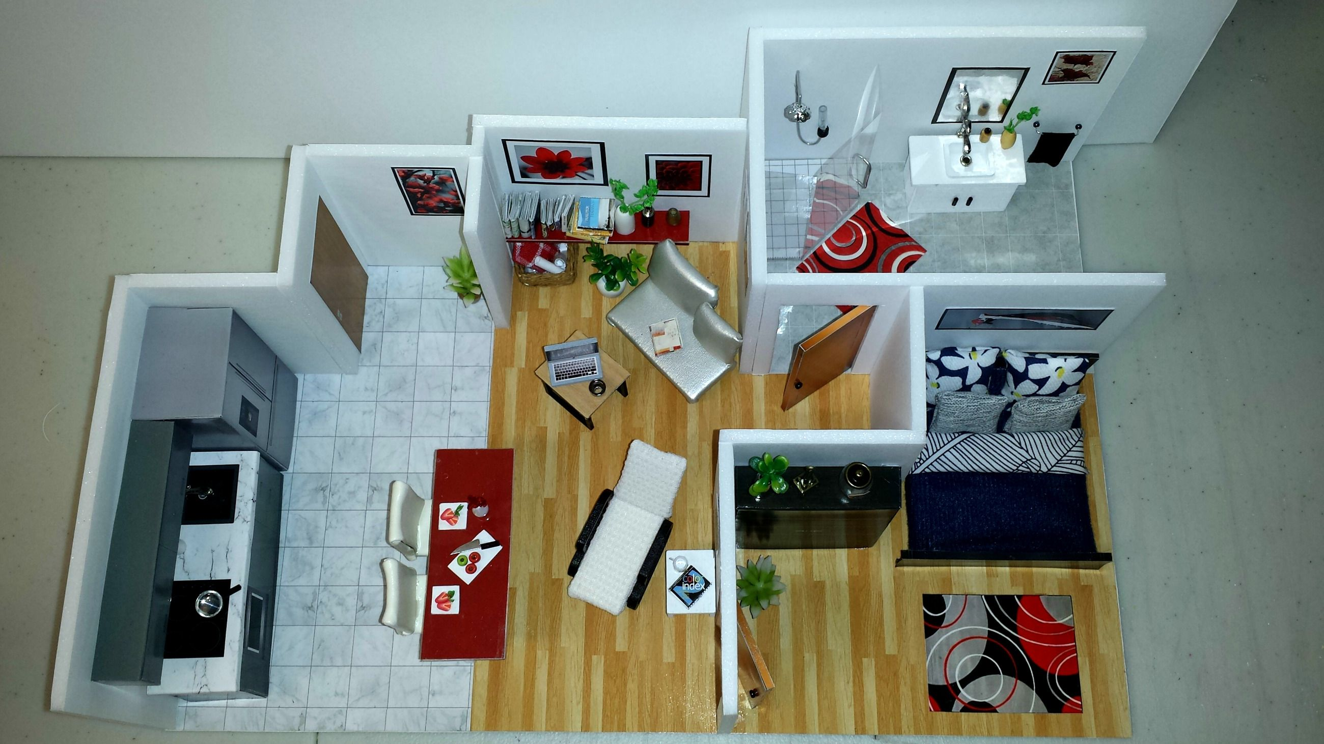 Diy miniature dollhouse apartment 5