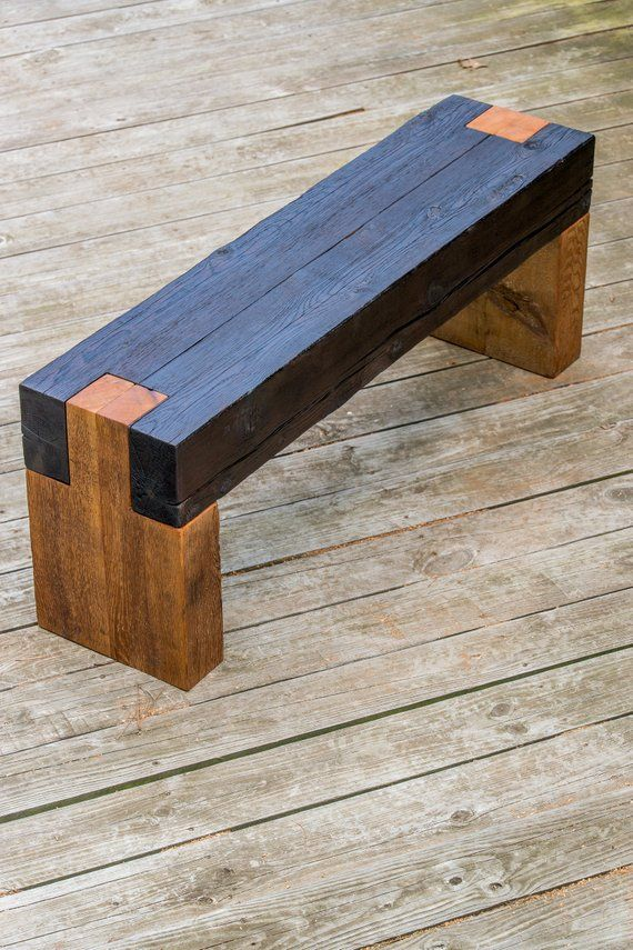 Shou Sugi Ban Modern Rustic Wood Bench In 2019