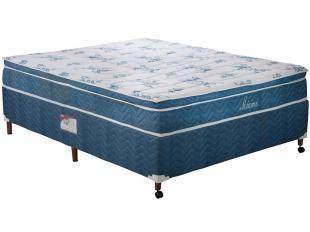 Cama Box (Box + Colchão) Casal Mola 138x188cm - Paropas Miami