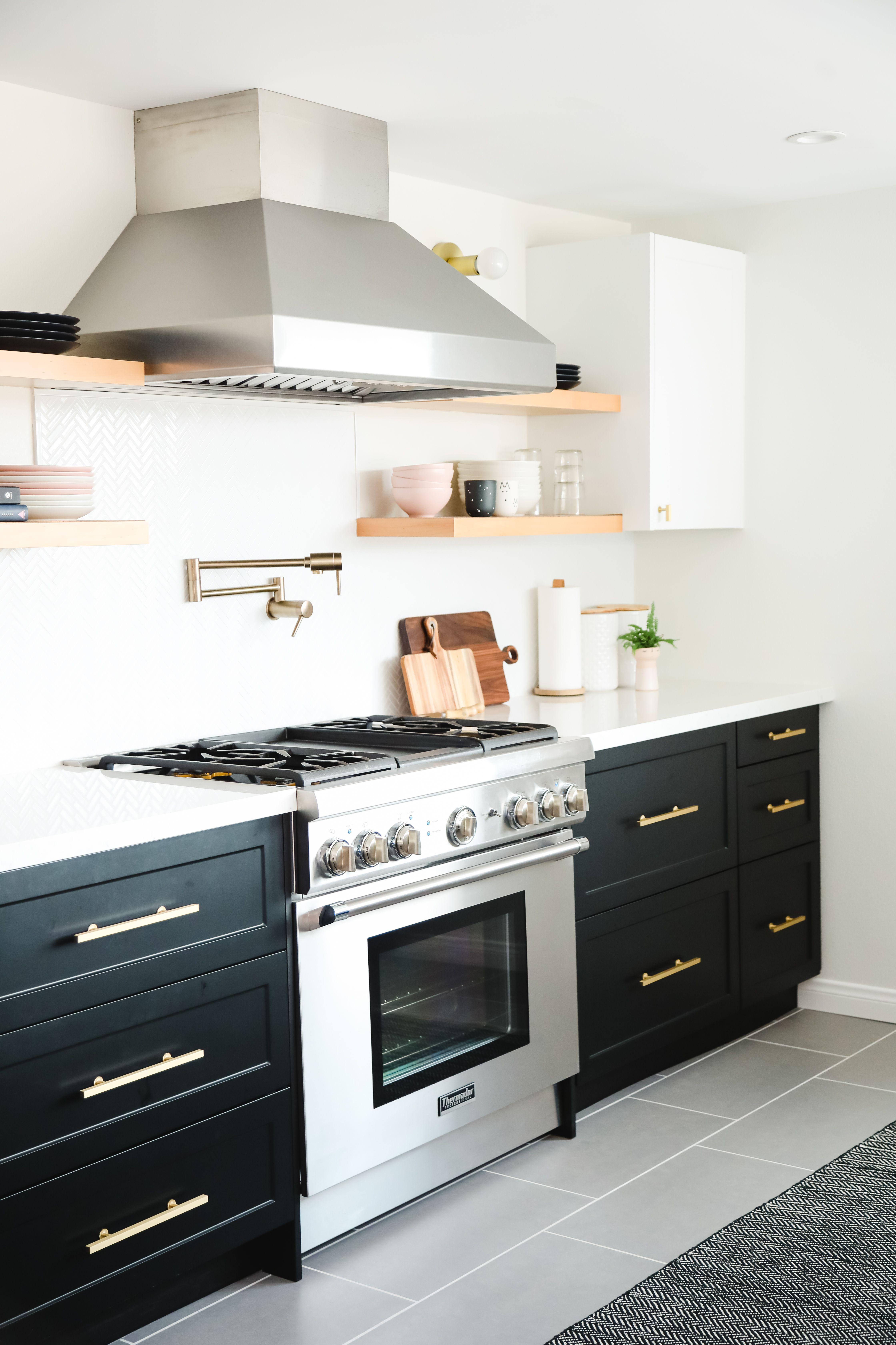 Scandinavian Modern Kitchen In 2020 Kitchen Remodel Small White Ikea Kitchen Kitchen Cabinets And Flooring
