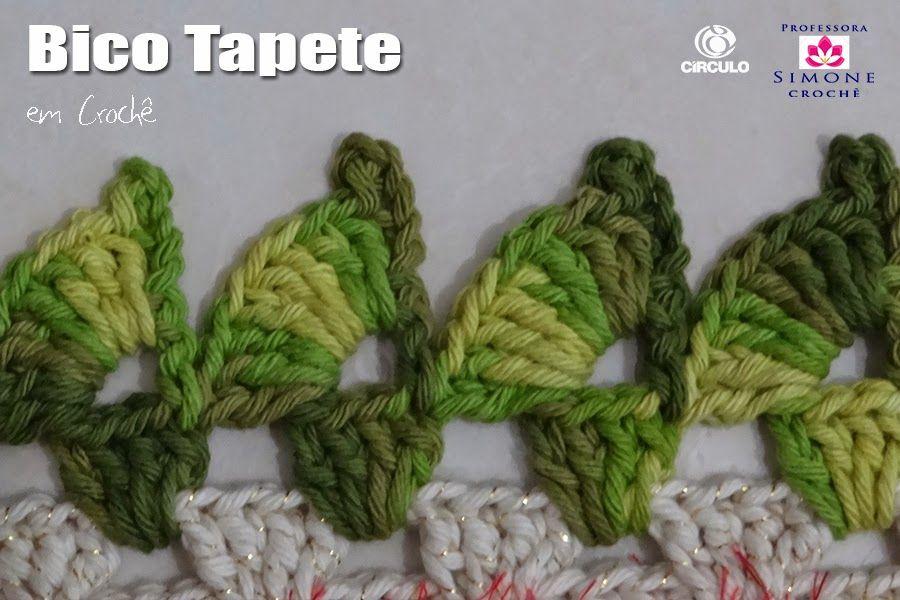 Bico Tapete Croche Professora Simone Com Imagens Bico De