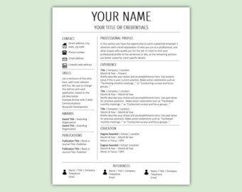stylish modern resume template cv template cover letter work