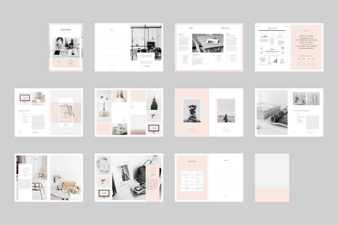the newington portfolio template is a 22 page indesign brochure