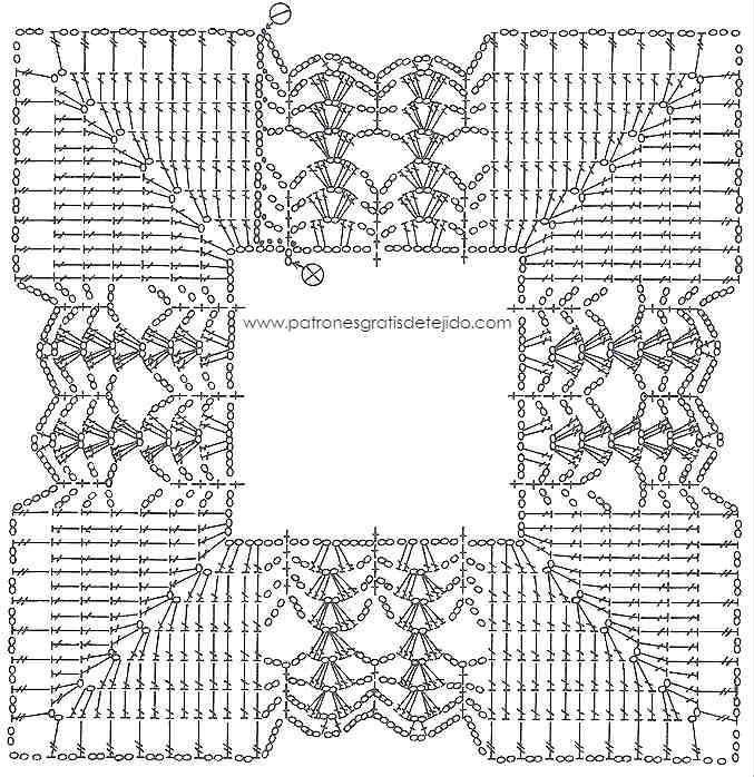 Patrón de cuadro crochet | Colchas | Pinterest | Crochet, Knitting y ...