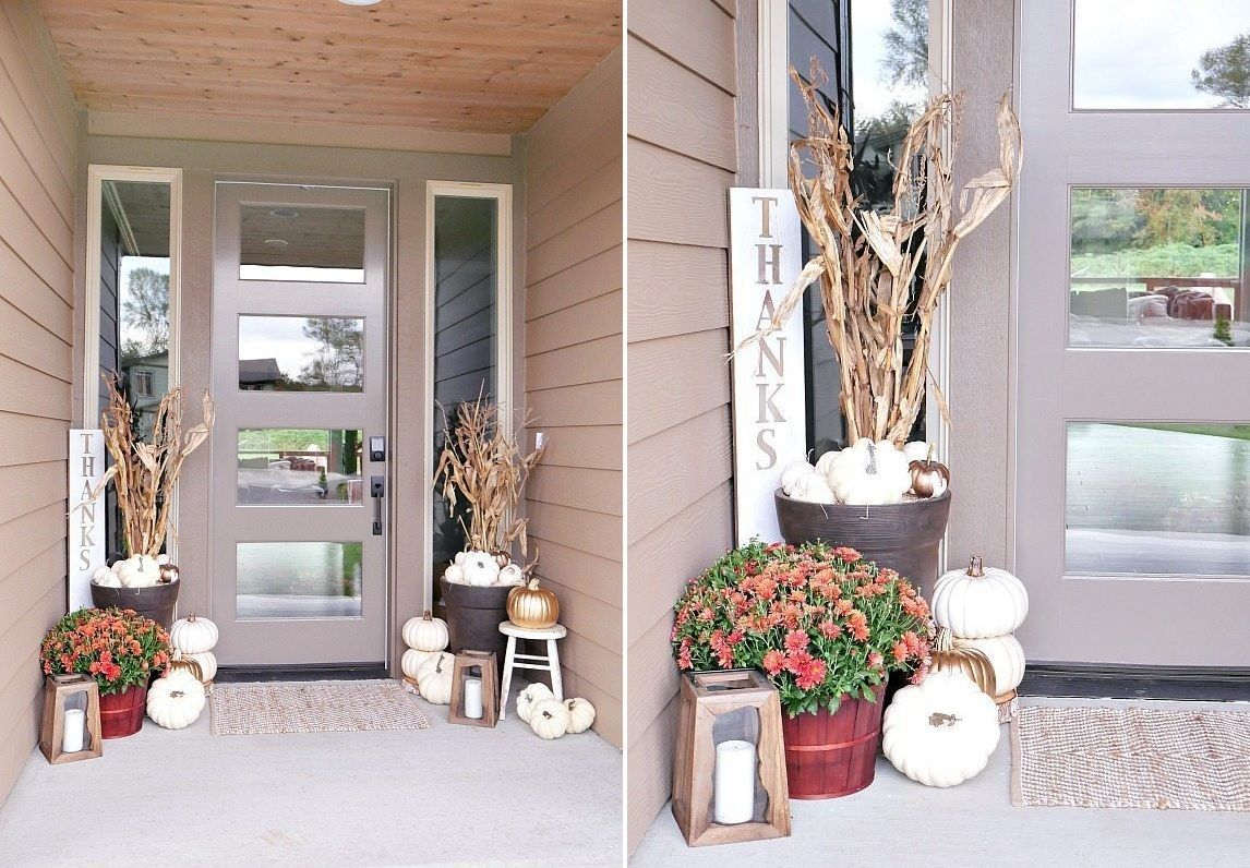 Fall porch decor ideas homedecor home frontdoor porchdecor diy diyhomedecor diycrafts diyvila also amazing rh pinterest