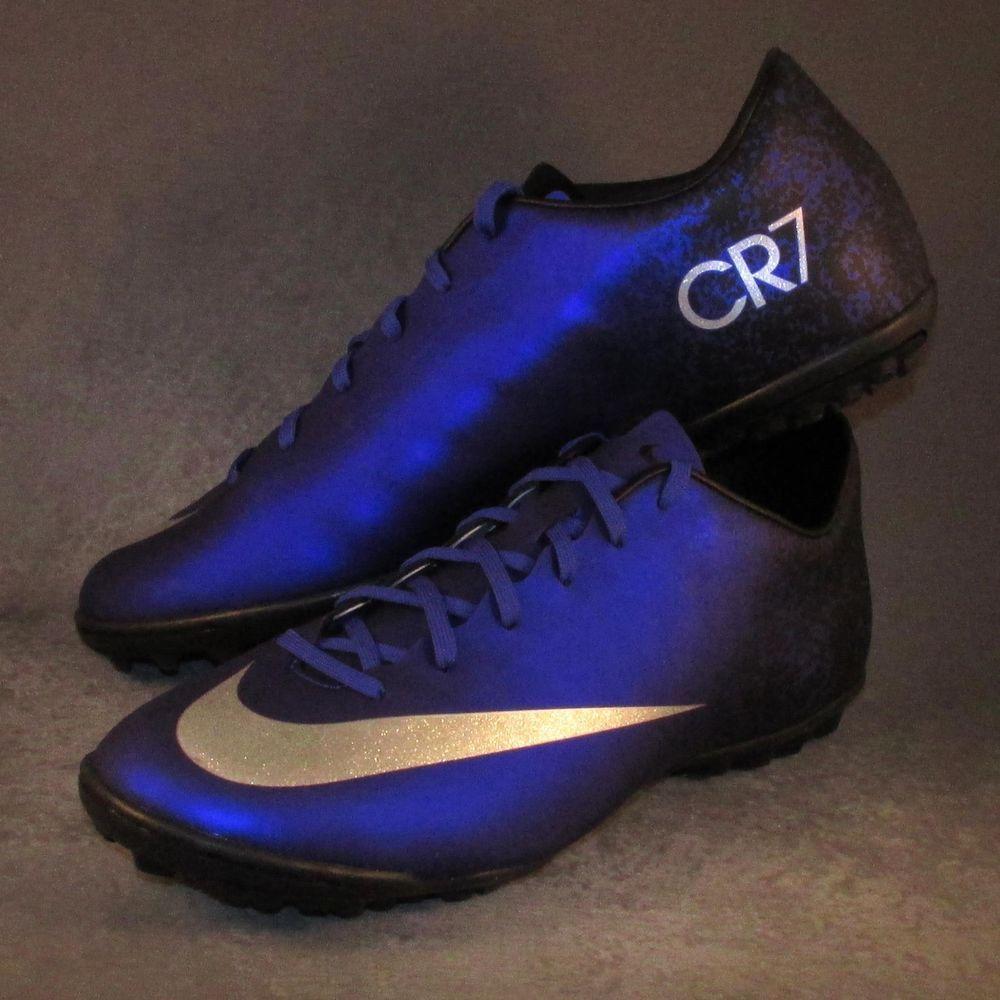 Men S Nike Mercurial Victory V Cr7 Tf Soccer Shoes Size 10 Blue Nike Soccer Shoes Shoes Nike Men