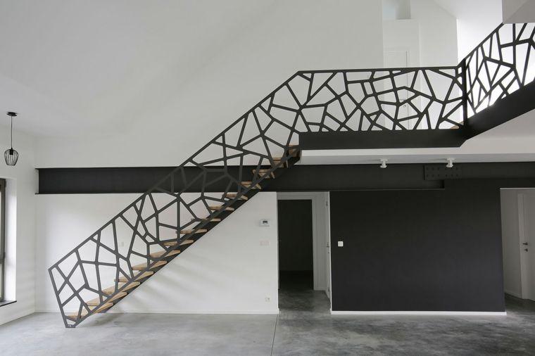 Balaustrada con diseño espectacular - ideas para todos los gustos - lamparas para escaleras