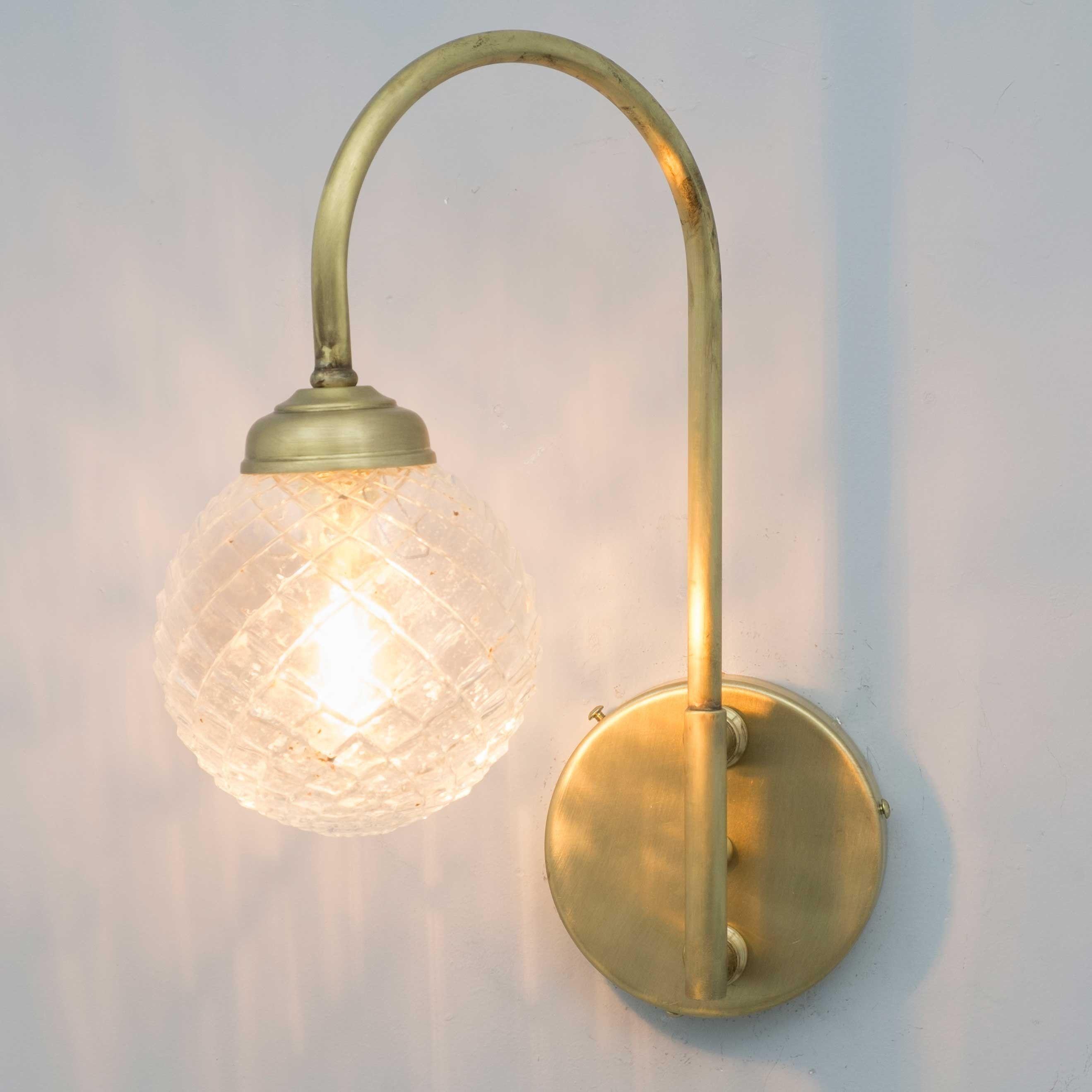 Aplique De Pared Vintage Bola Cristal Elaine Apliques De Pared Iluminacion De Pared Bola De Cristal