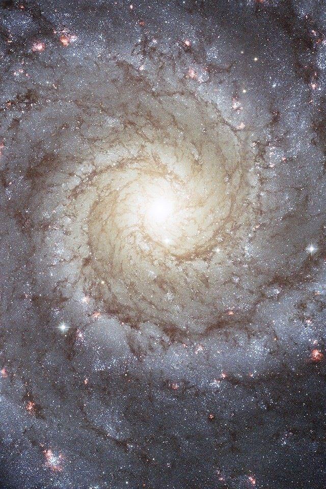 Galáxia espiral. Telescópio espacial hubble