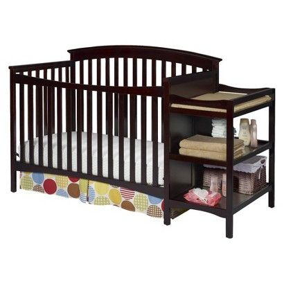Target Delta Walden Crib And Changer Espresso Java Image Zoom Cribs Baby Cribs Crib And Changing Table Combo