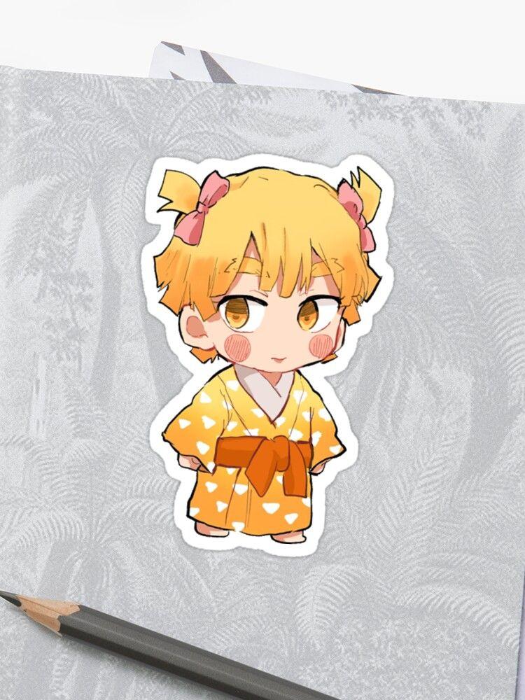 holographic anime stickers demon slayer