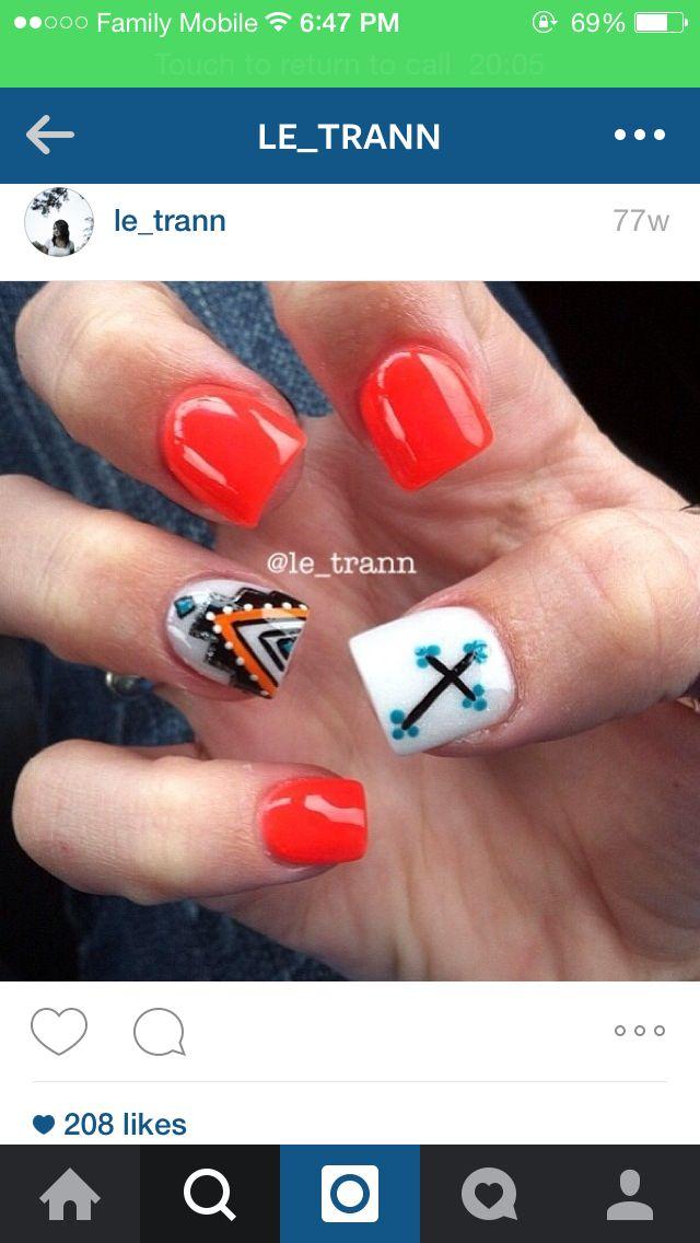 Pin By Kalenakay On Nails Hair Makeup Country Nails Rodeo