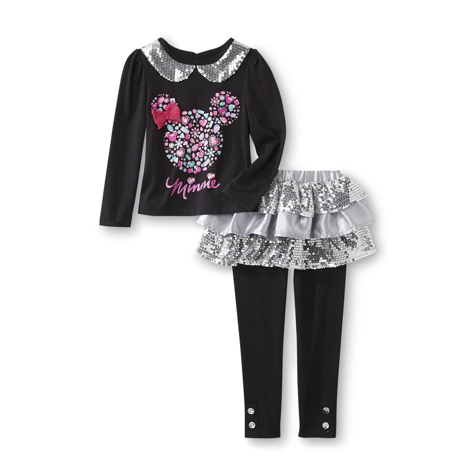 Disney Baby Minnie Mouse Infant & Toddler Girl s Shirt & Skeggings
