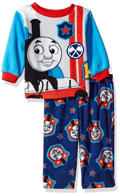 Toddlers Thomas Tank Engine Warm Sleepwear PJs Pajamas Toddler Size 2T