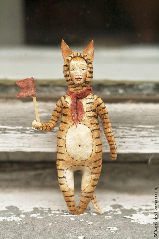 Ватная игрушка на ёлку Тигр - 500 эскимо - Ярмарка Мастеров