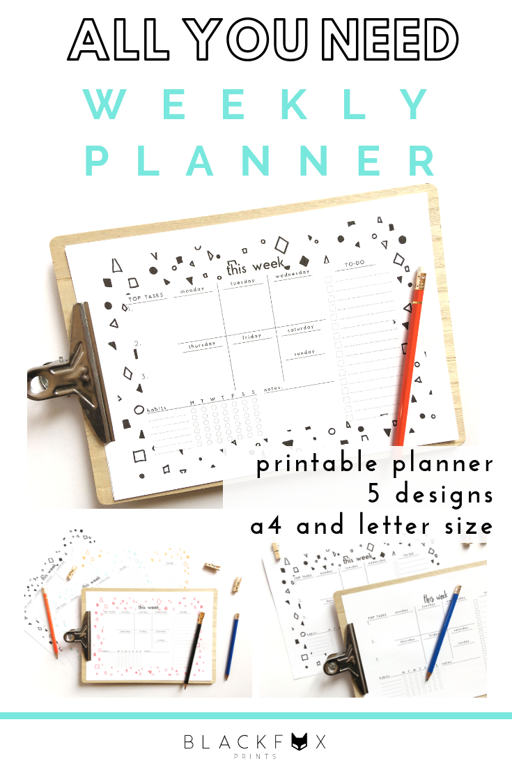 One-page mini organizer 51