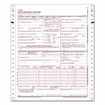 Tops Business Forms Cms Health Insurance Claim 1500 Lttr 2 Part
