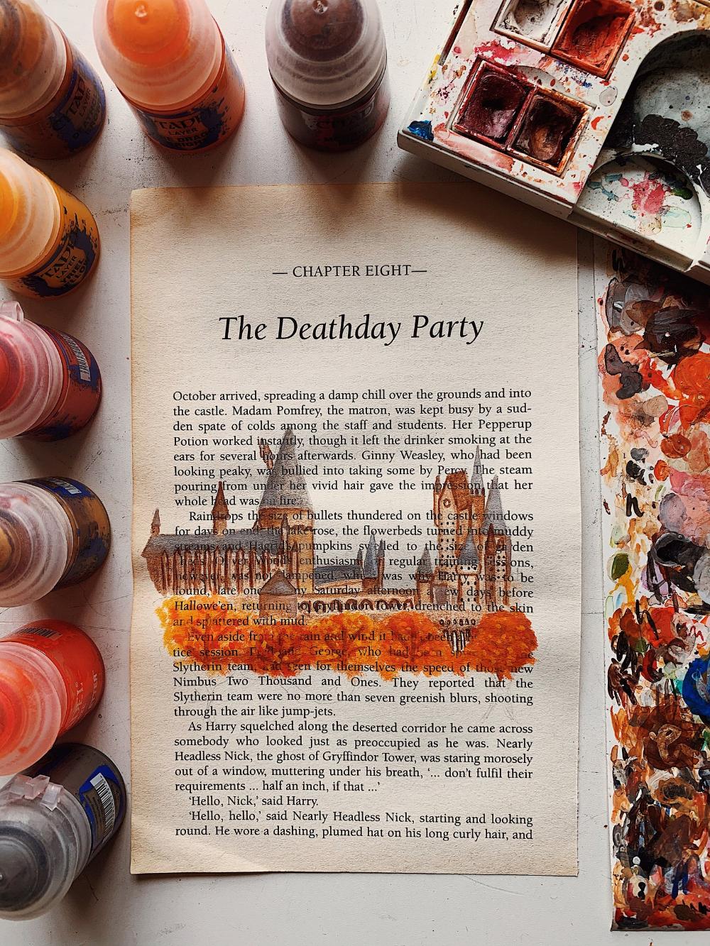 Autumn Hogwarts Inspired Acrylic Harry Potter Book Page Etsy In 2020 Harry Potter Artwork Harry Potter Sketch Harry Potter Aesthetic