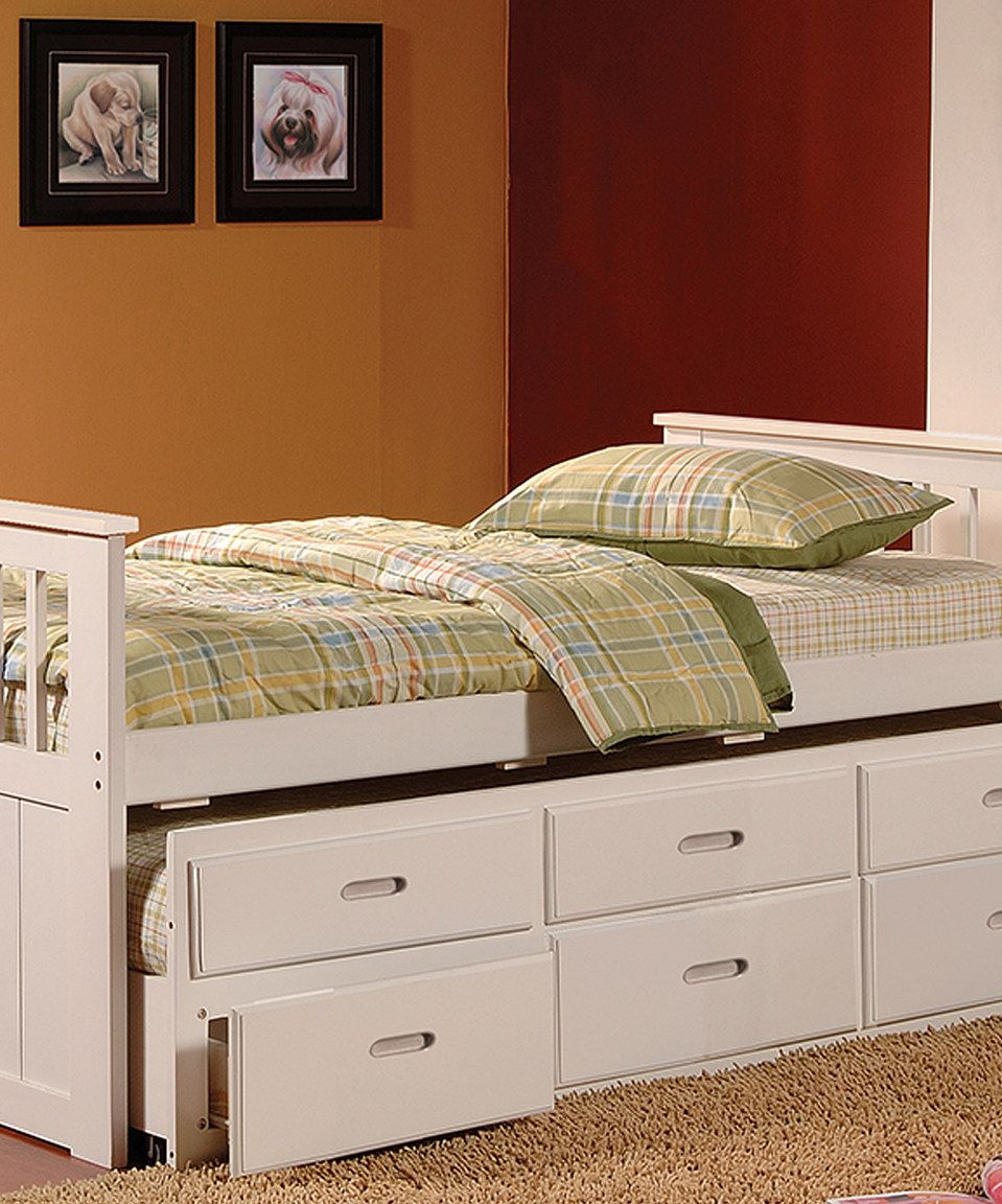 Loving this White Brian Twin Trundle Bed on zulily!