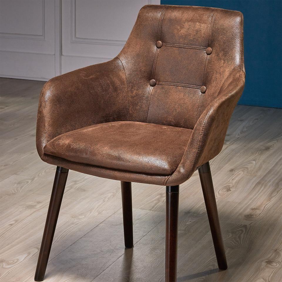 Armlehnenstuhl Johannesburg Kansas Braun Armlehnen Stuhle Und
