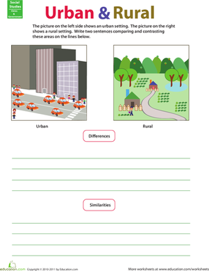 Compare and Contrast: Rural and Urban | Classe | Teaching social ...