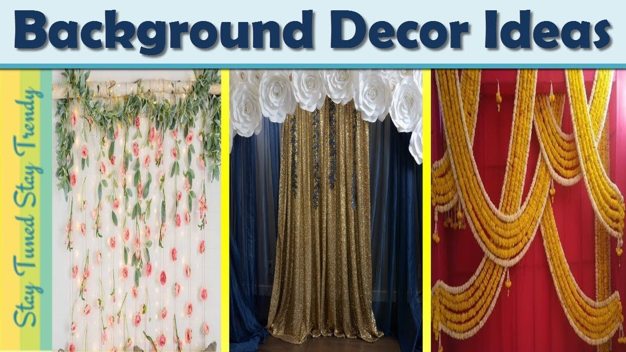 Festival Background Decoration Ideas At Home Ganpati Back Decor
