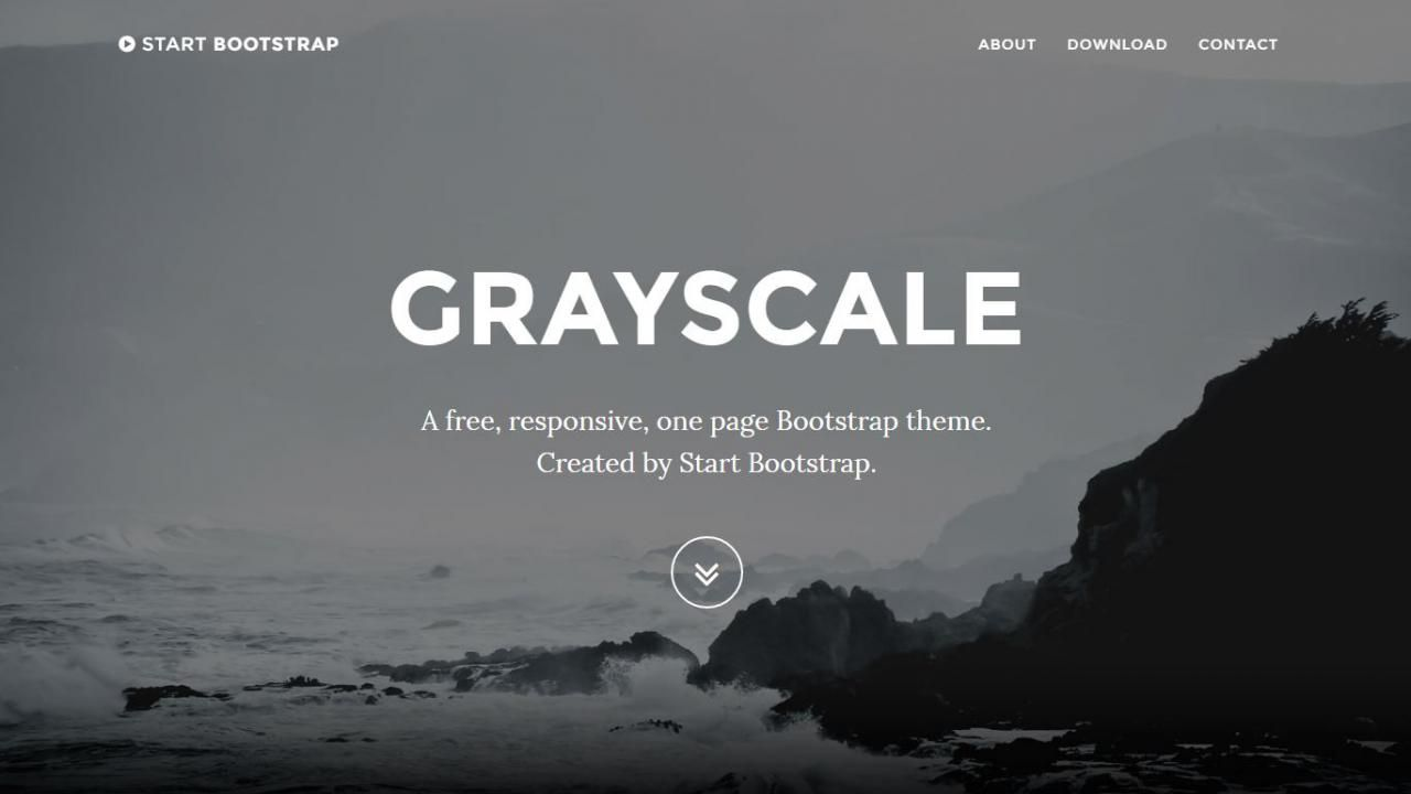 A free one page template from Start Bootstrap. Grayscale is an open ...