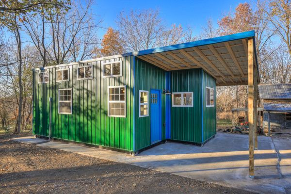 Double Wide Container Home With Rustic Interior Container Homes