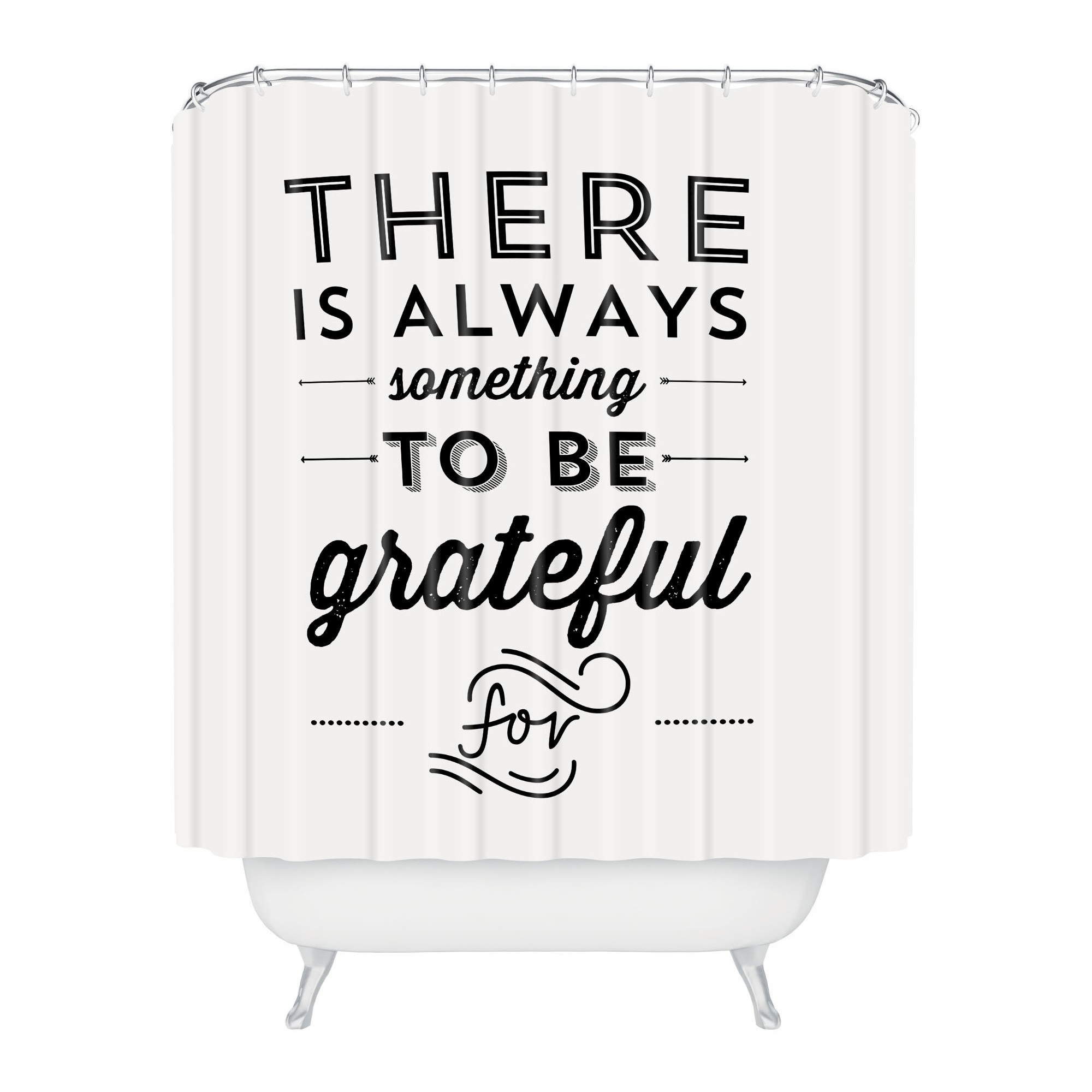 Allyson Johnson Something To Be Grateful For Shower Curtain Black