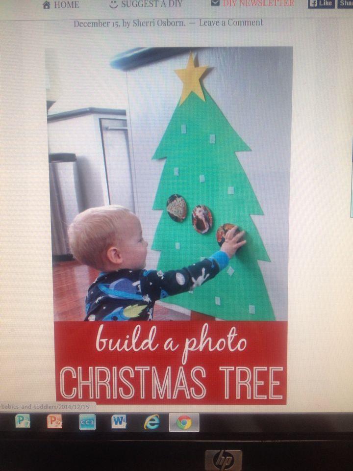 Next Year Photo Christmas Tree Toddler Christmas Tree