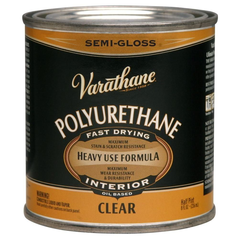 Varathane 8 Oz Clear Semi Gloss Oil Based Interior Polyurethane 4 Pack 242172h Polyurethane Floors It Is Finished Outdoor Wood Projects