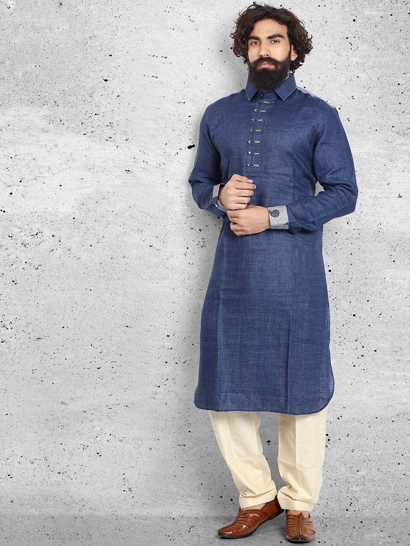 Royal Kurta Big Boys Linen Pathani Suit