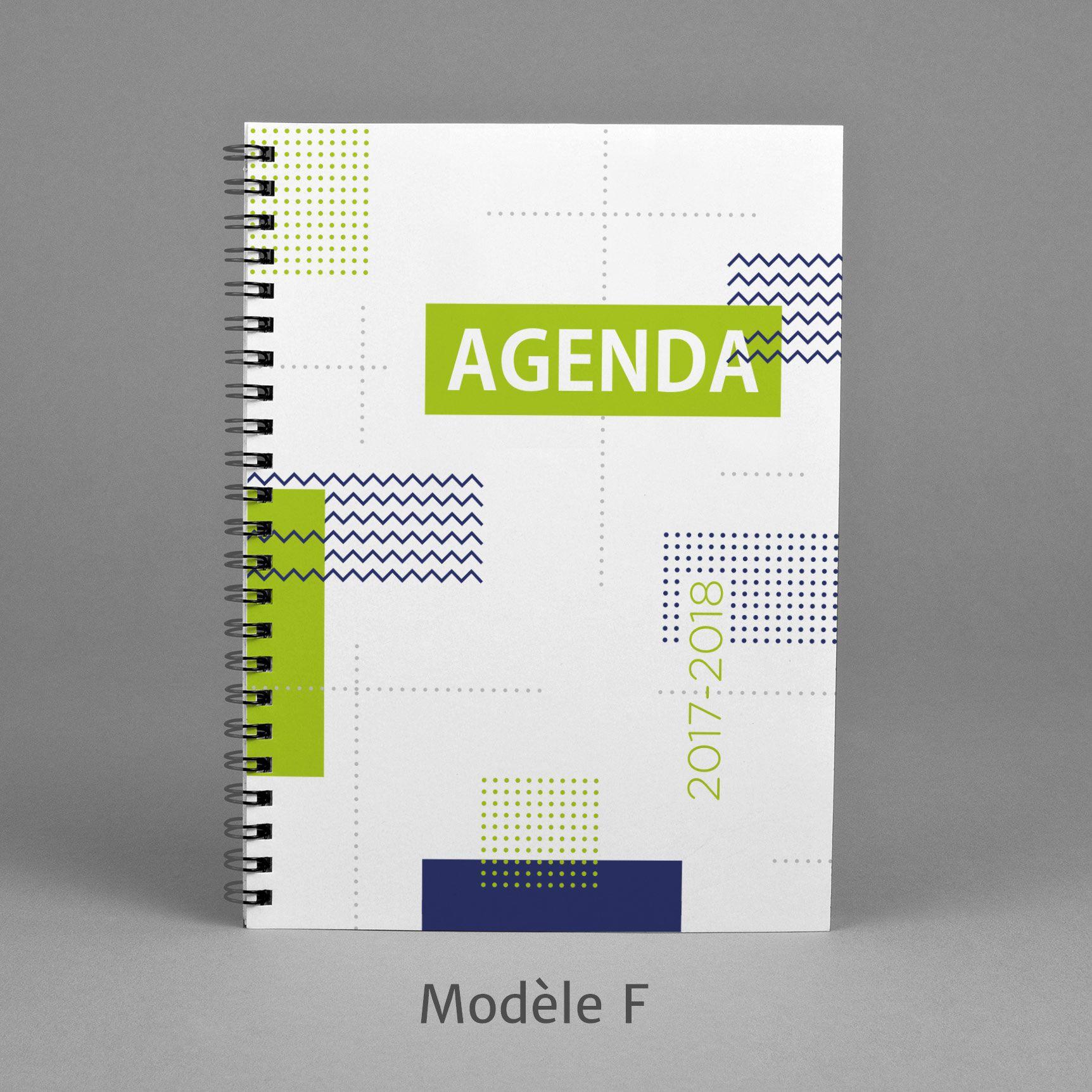 Agenda 2017 2018 Modele F 40 Geometric Green White And Blue