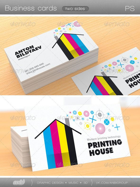 Printing house business card business cards business and font arial printing house business card reheart