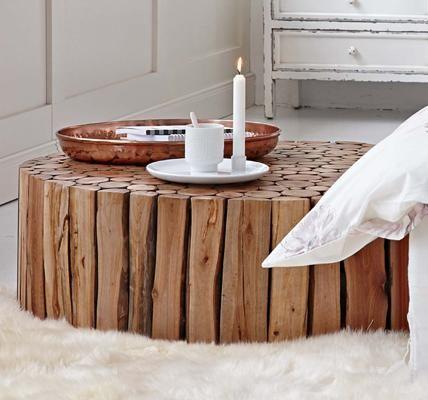 Dieser Schicke Couchtisch Aus Naturbelassenen Asten Und Echt Indischem Holz Wird Bestimmt Auch In Deinen Vier Wanden Zum Absoluten Blickfang