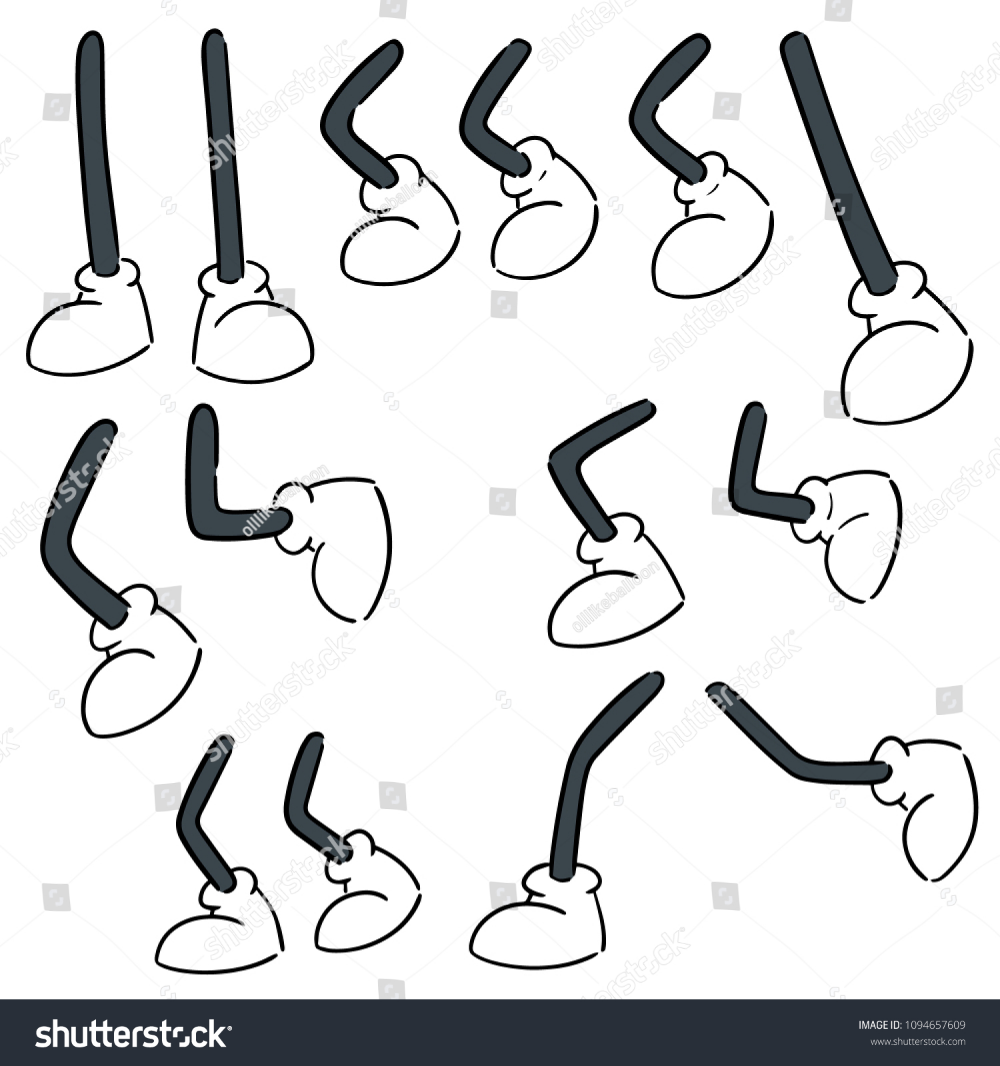 Vector Set Cartoon Leg Stock Vector Royalty Free 1094657609 Cartoon Legs Vector Cartoon Design