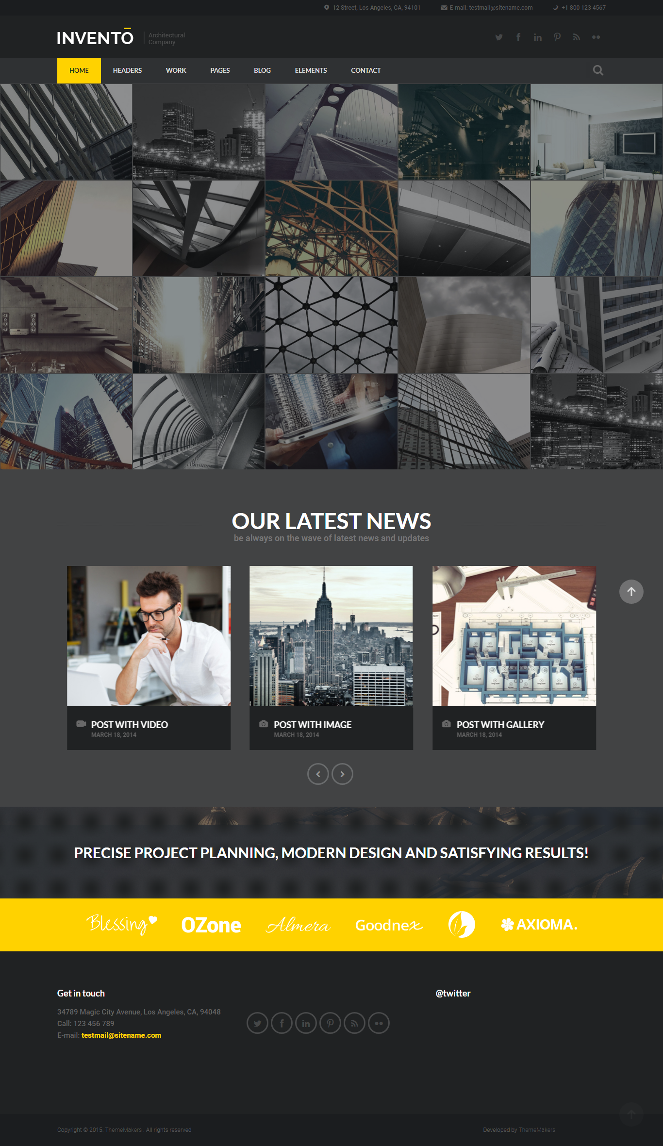 Invento Architecture Building Agency Template Web Design Agency Webpage Design Simple Web Design