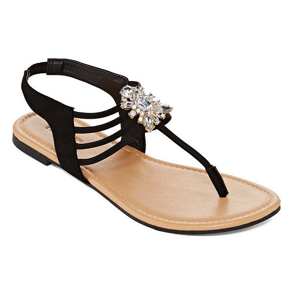 c6bf0e890a9f9 Mixit™ Strappy Cluster Stone Flat Sandals - JCPenney