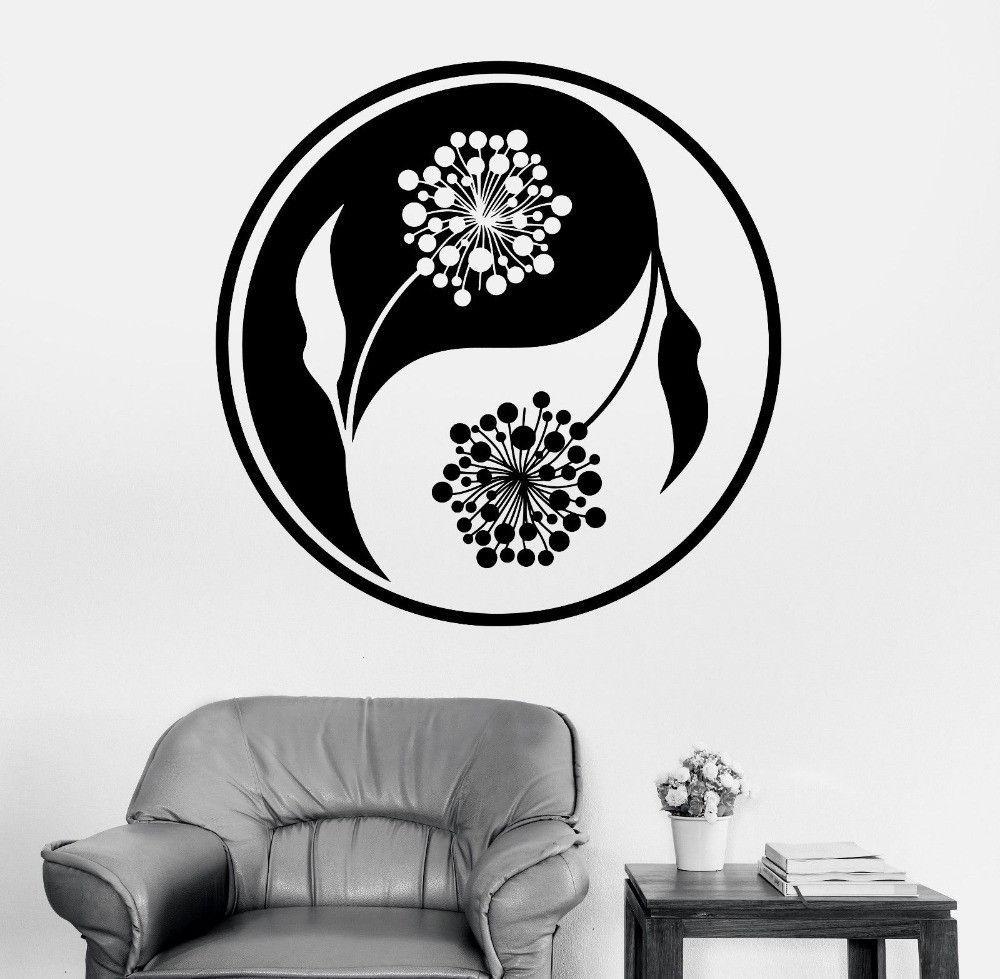 Mandala Wall Sticker Home Decal Buddha Yin Yang Floral Yoga - Zen wall decalsvinyl wall decal yin yang yoga zen meditation bedroom decor